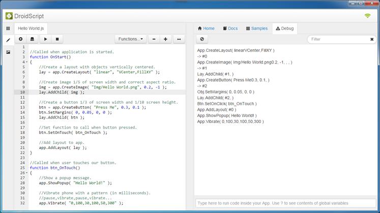 DroidScript | JavaScript IDE